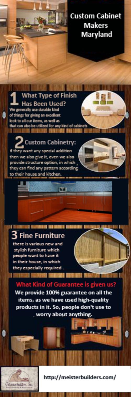Custom Cabinet Makers Maryland via Meisterbuilders, Inc.