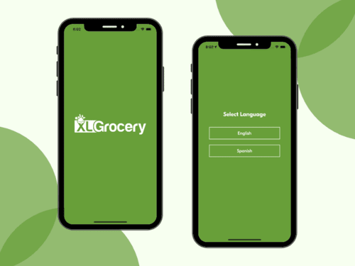 Language and Splash Screens For Customer Grocery Delivery App