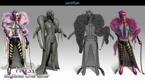 3D Character Modeling  & low poly game character by  3D Game... via Gameyan