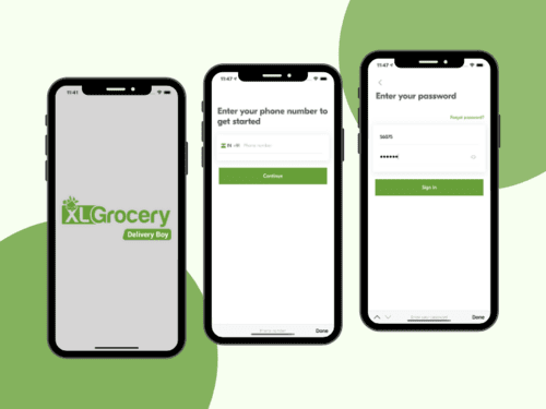 Splash and Login Screens For Grocery Delivery App (Delivery Boy)