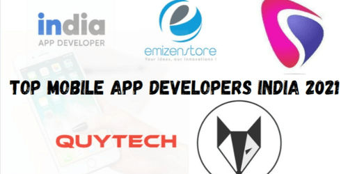 Top Mobile App Developers India 2021