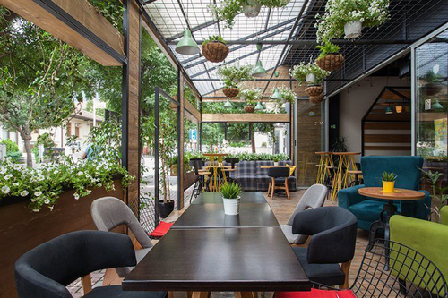 Thiết kế quán cafe sân vườn đẹp, thông thoáng - Hoàng Minh Decor