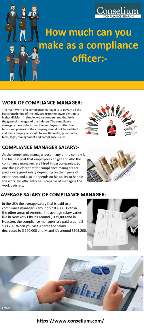 How much can you make as a compliance officer:-                                     Hiring a Chi... via Conselium Compliance Search