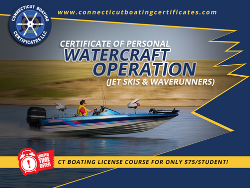 Certificate of personal | Watercraft operation via Connecticut Boating Certificates