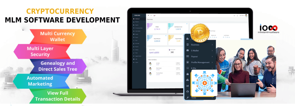 The Cryptocurrency MLM software supports an integrated walle... via Infinite MLM Software