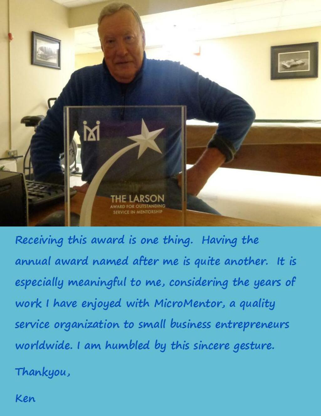 Receiving this honor is one thing, but having the annual awa... via Ken Larson