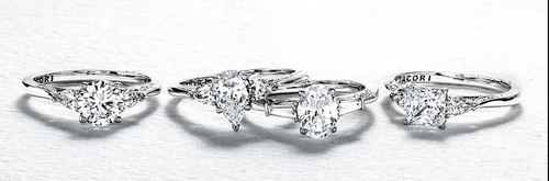 3 Stone Engagement Rings | Tacori via Rena Lowery