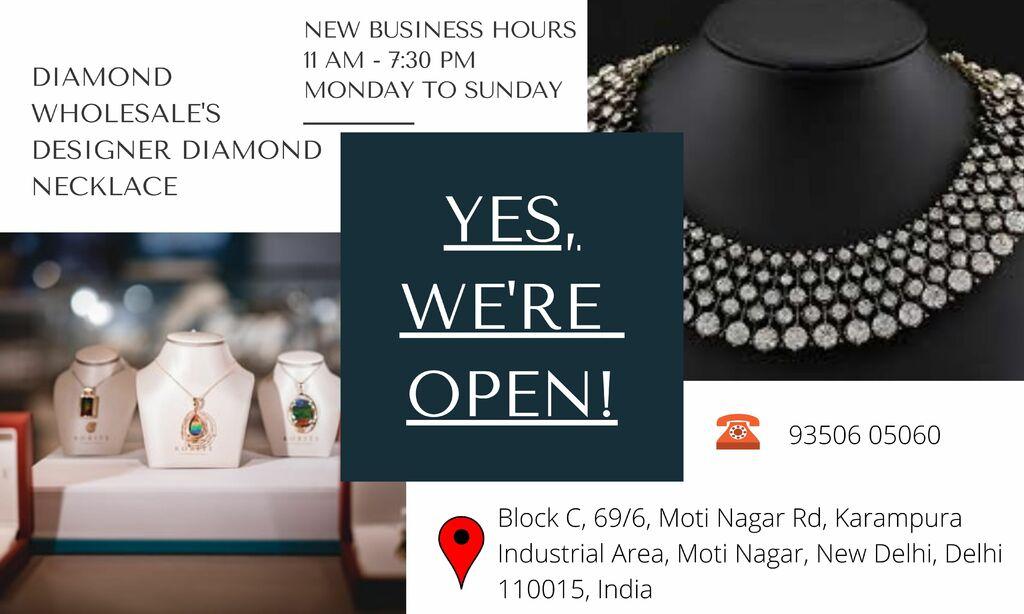 Diamond Necklace via Diamond Wholesale