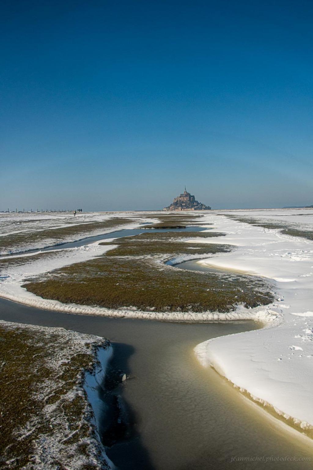 Meanders in snow via Jean Michel