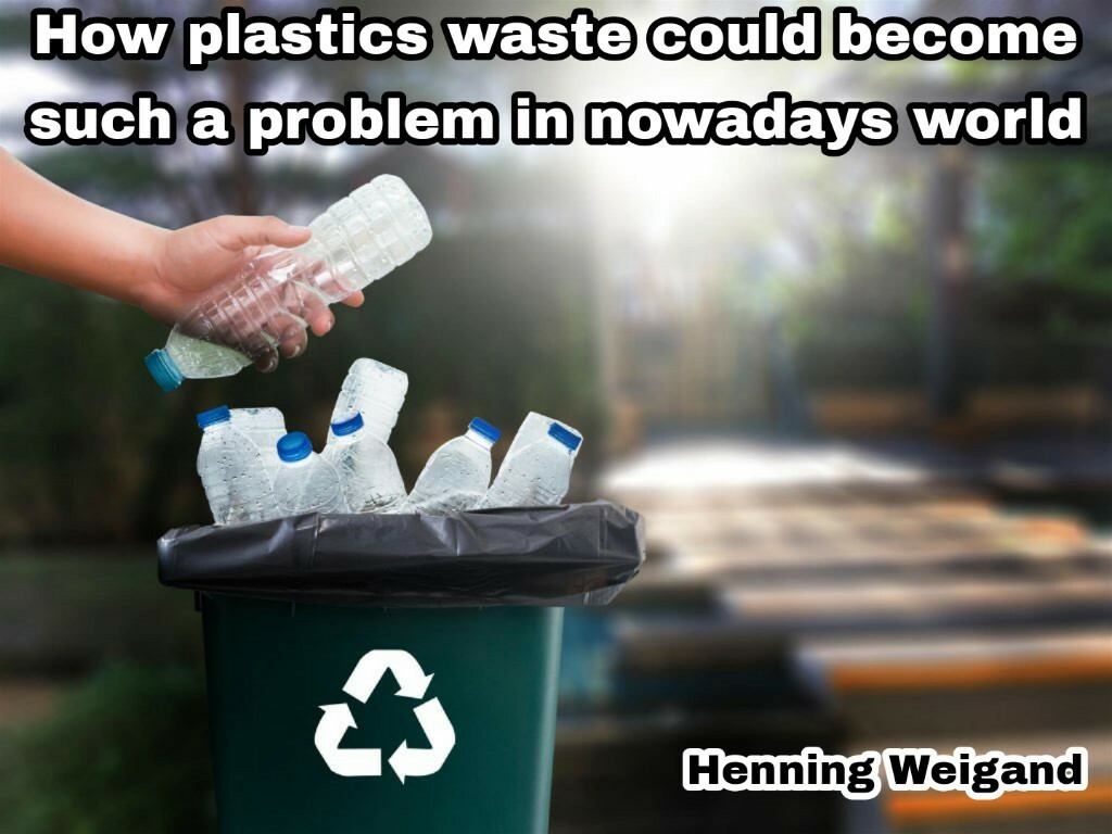 How plastics waste could become such a problem in nowadays w... via Henning Weigand