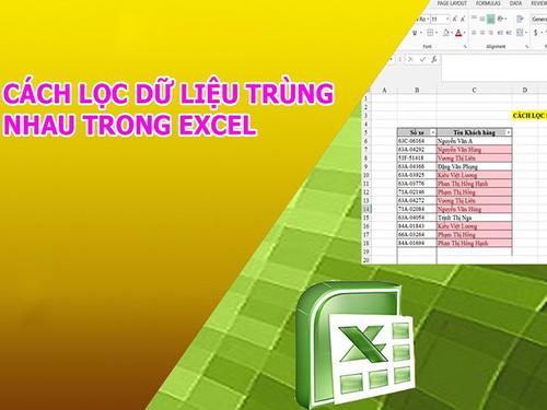 Cách lọc dữ liệu trùng trong Excel đơn giản chỉ một nốt nhạc