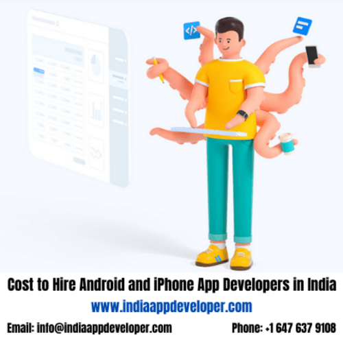 Cost to Hire Android and iPhone App Developers in India via Kaira Verma