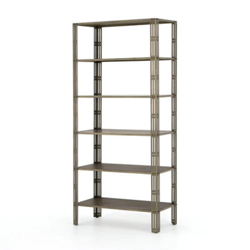 Buy Four Hands Elke Bookshelf-Antique Brass | Bookcases & Et... via Grayson Living