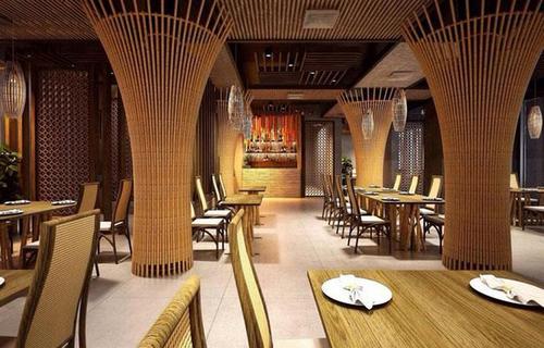 Thiết kế nhà hàng bằng tre mộc mạc, độc đáo - Hoàng Minh Decor