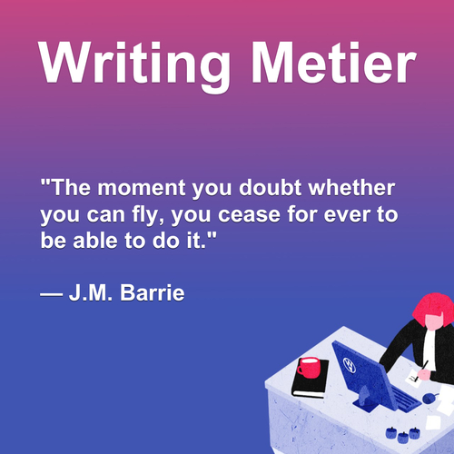 The moment you doubt whether you can fly, you cease for ever... via Writing Metier