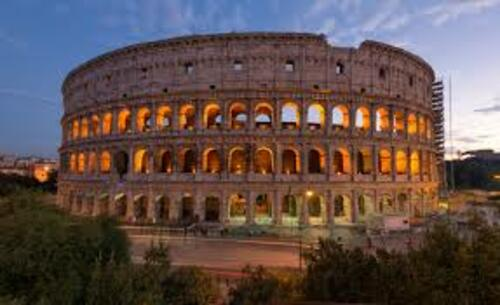 View of Colosseum at the sunset via Aakash Sheoran