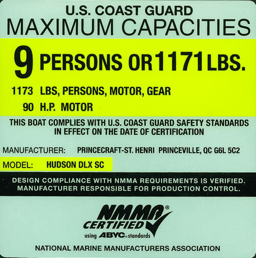 The Information on a Capacity Plate is Vital CT Boating Certificates LLC