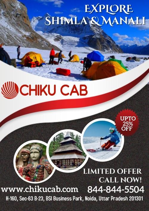 Affordable Taxi Ride from Chandigarh to Delhi, Shimla, Manal... via Chiku cab