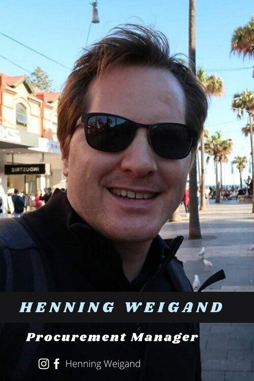Henning Weigand Procurement Manager Germany via Henning Weigand