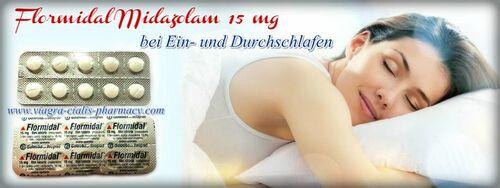 Benzodiazepin Flormidal Midazolam 15 mg - Z-Medikamente rezeptfrei in Deutschland
