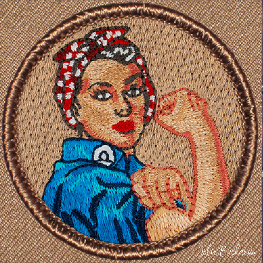 Rosie the Riveter Patch by Jolie Buchanan via Jolie Buchanan
