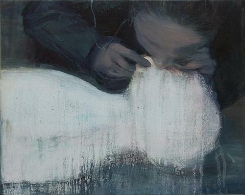 Xie Lei. Blow, 2011. Oil on canvas, 44.1 x 55.2 cm. via Barbara Fariña