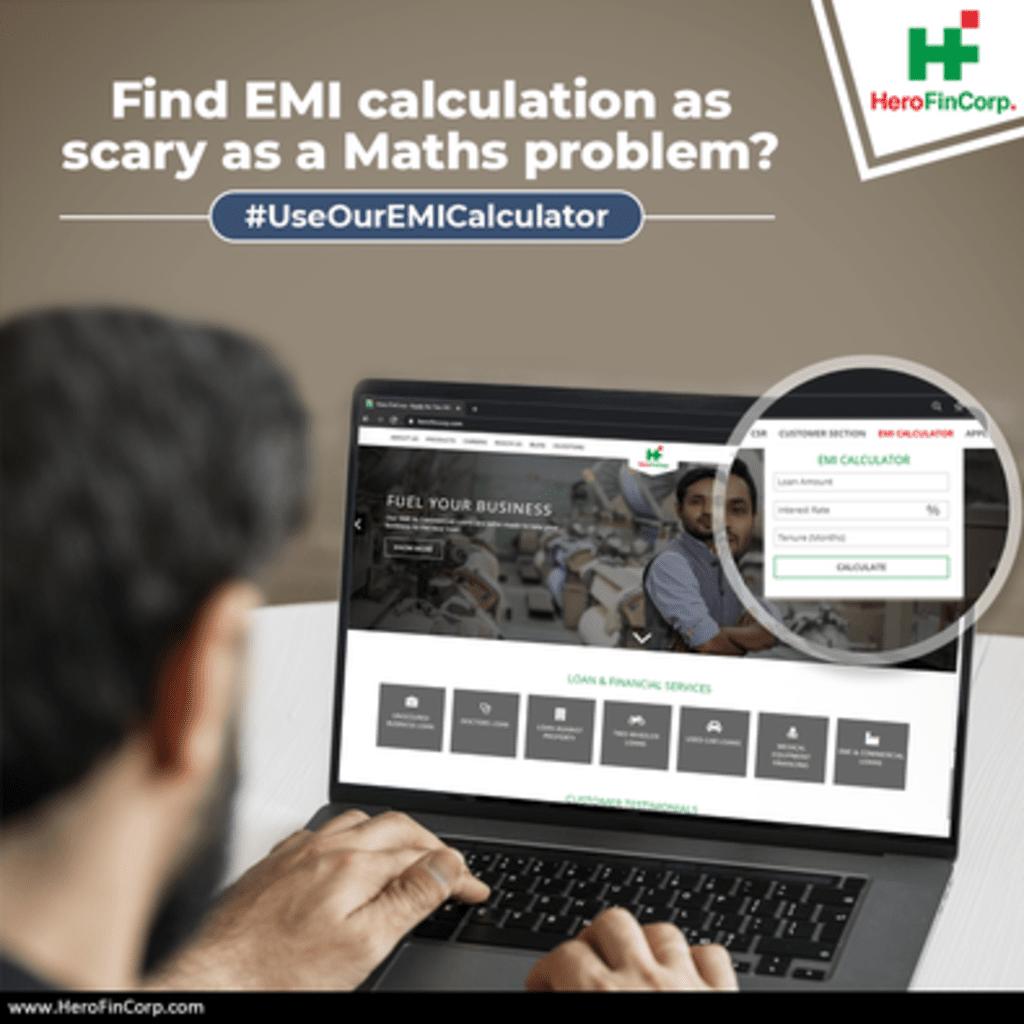EMI calculation via Hero FinCorp