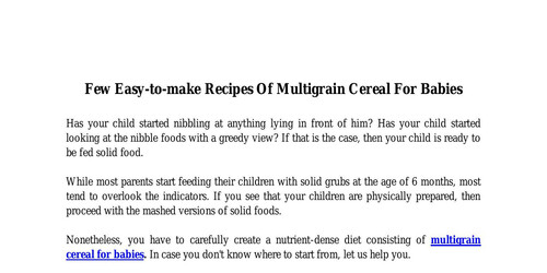 Few Easy-to-make Recipes Of Multigrain Cereal For Babies.pdf