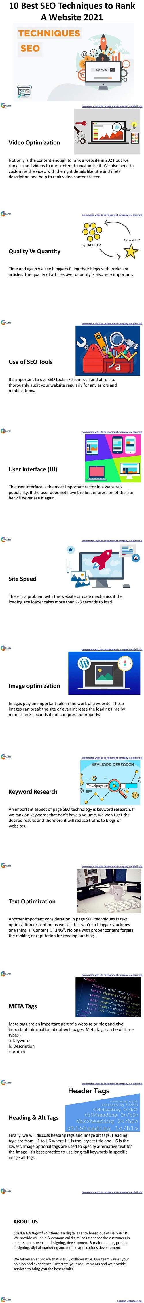 10 Best SEO Techniques to Rank a Website 2021 via Shalini Khurana