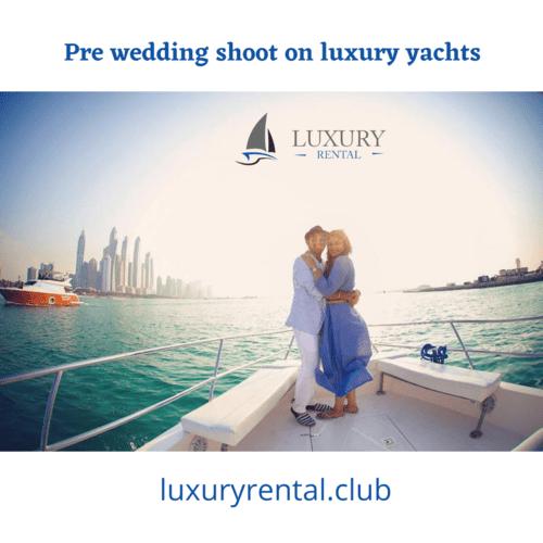 Pre wedding shoot on luxury yachts and yacht in Goa via Luxury Rental