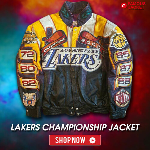 Jeff Hamilton Los Angeles Lakers Championship Jacket                                         SHOP NO... via famous jacket