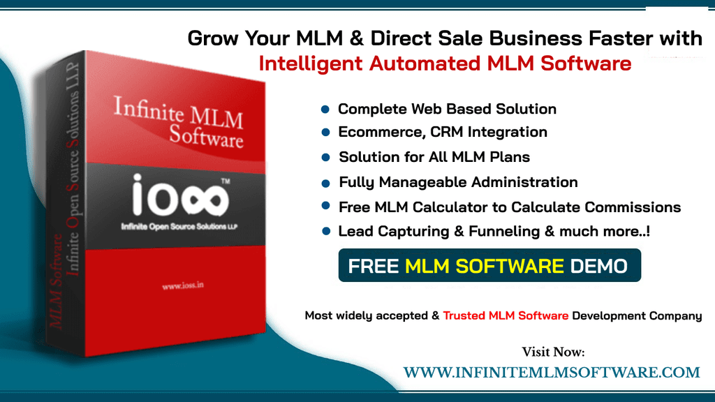 Grow Your Direct selling faster with Infinite MLM Software via Infinite MLM Software