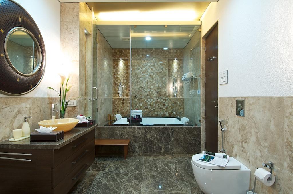 Bathroom interior with small Detailings via Ankit Kapoor