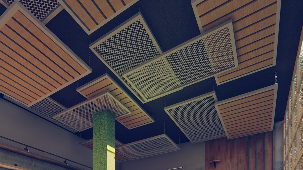 Unique Metal Design False Ceiling via Ankit Kapoor