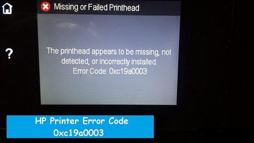 HP Printer Error Code 0xc19a0003- How to Fix?