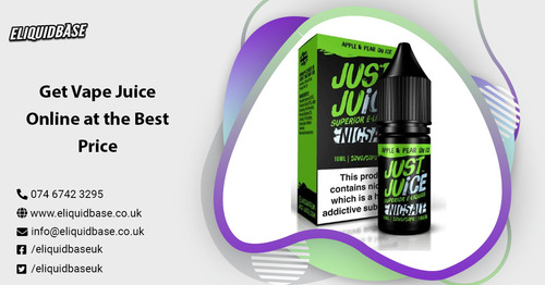 Get vape juice Online at the best Price via Eliquid Base