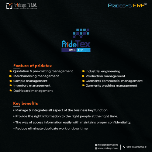best ERP solution for the textile via Pridesys IT