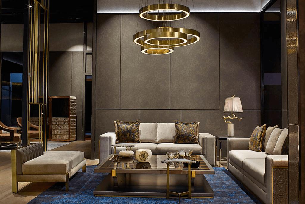 Elegant Living Room Interior via Ankit Kapoor