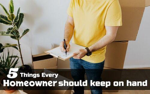 5 Things Every Homeowner Should Keep On Hand • ModernLifeBlogs
