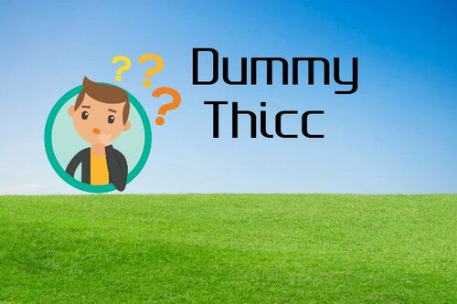 Dummy Thicc - New Term And See How It Can Be Used - Fopeez