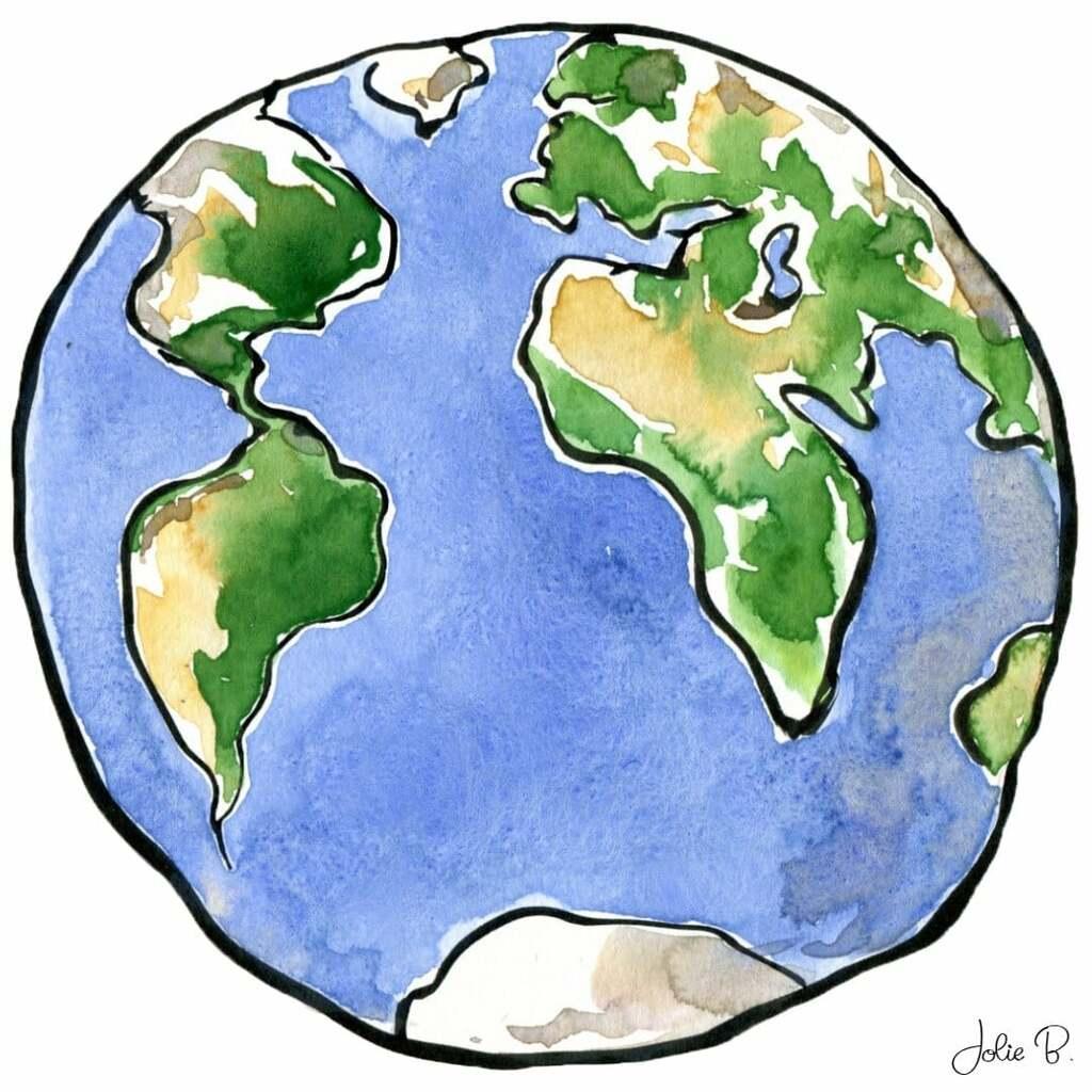 Earth Sketch and Paint ~ Jolie Buchanan via Jolie Buchanan