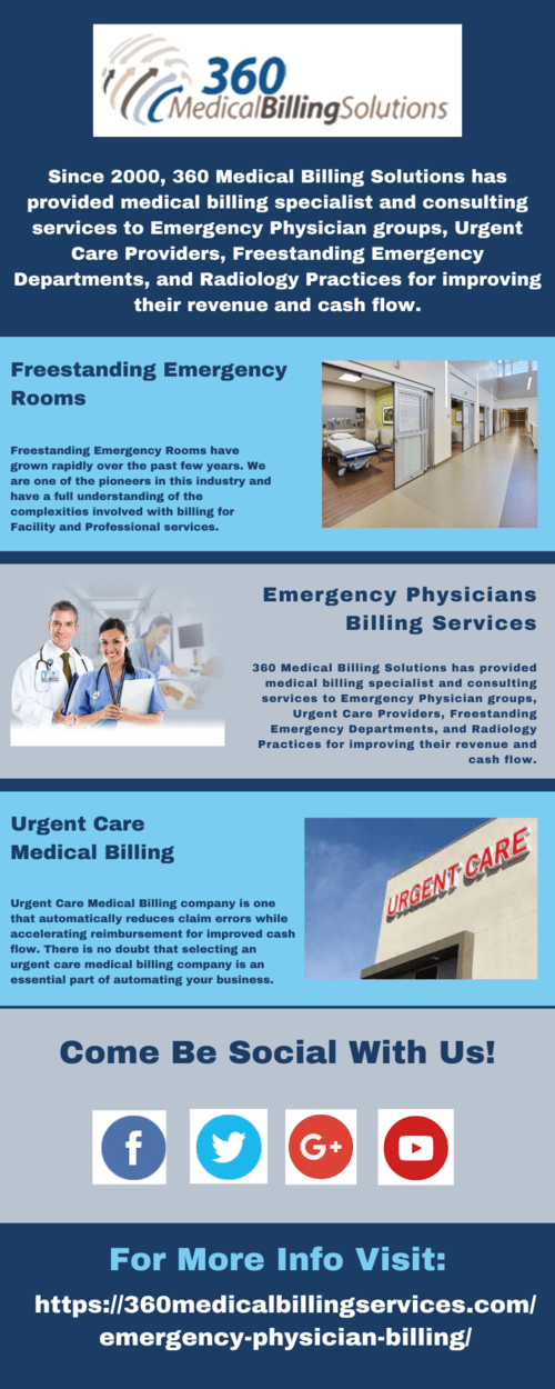 Emergency Physician Billing Services via 360 Medical Billing Solutions