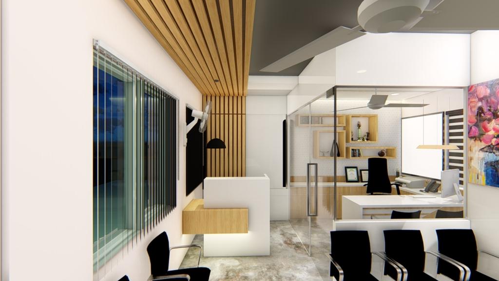 Modern Office Interior Look via Ankit Kapoor