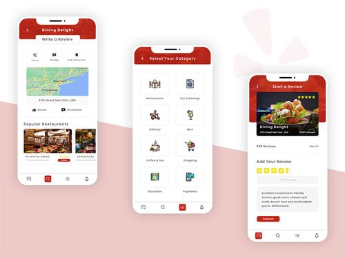 Yelp App Redesign via World Web Technology Pvt. Ltd.