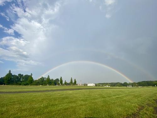 Rainbow over NJ via Steven Hughes