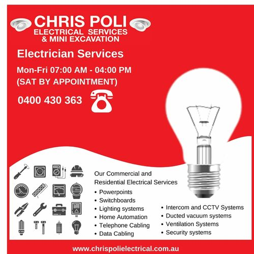Expert Electricians in Blue Mountains via Chris Poli Electrical Services