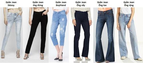 Các Loại Quần Jean và Cách Chọn Quần Jean Phù Hợp Cho Bạn