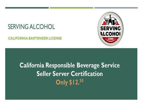 California Bartender License USA