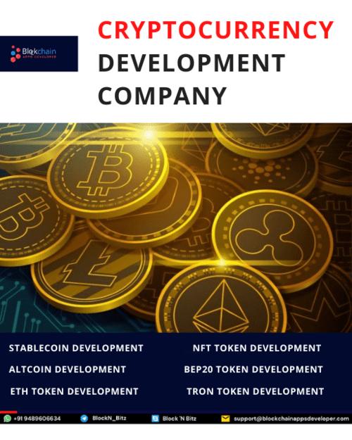 Cryptocurrency Token Development Company via BlockchainAppsDeveloper