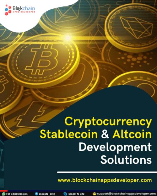Cryptocurrency Development Company via BlockchainAppsDeveloper